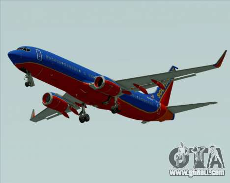 Boeing 737-800 Southwest Airlines for GTA San Andreas inner view