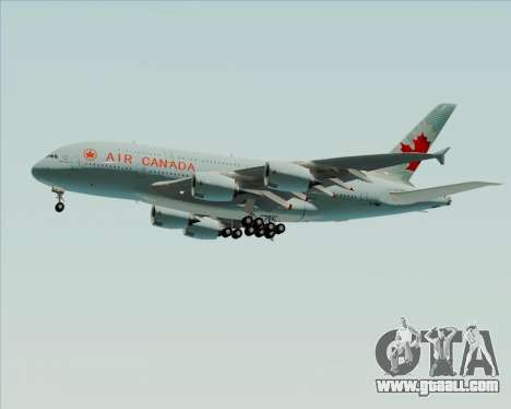 Airbus A380-800 Air Canada for GTA San Andreas upper view