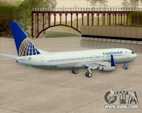 Boeing 737-800 Continental Airlines for GTA San Andreas inner view