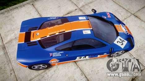 McLaren F1 1993 [EPM] Gulf 34 for GTA 4 right view