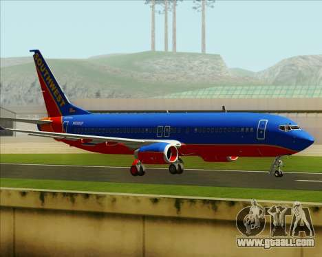 Boeing 737-800 Southwest Airlines for GTA San Andreas side view