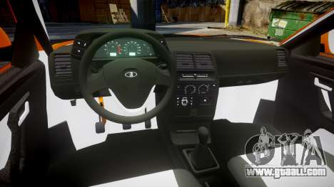 ВАЗ-2110 Bogdan rims1 for GTA 4 back view