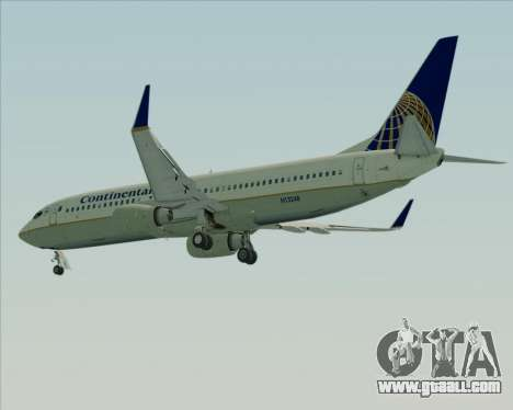 Boeing 737-800 Continental Airlines for GTA San Andreas side view