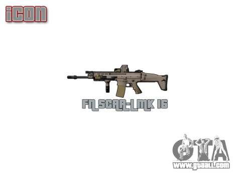 Machine FN SCAR-L Mk 16 icon3 for GTA 4 third screenshot