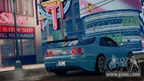 Nissan Skyline BCNR33 JUN VER for GTA 4 left view