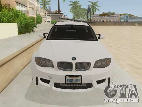 BMW 1M 2011 for GTA San Andreas back left view