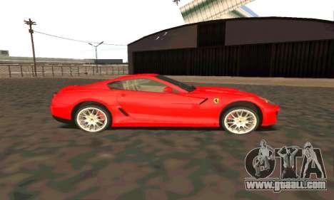 Ferrari 599 Beta v1.1 for GTA San Andreas back left view