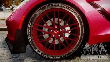 Chevrolet Corvette Z06 2015 TireMi2 for GTA 4 back view