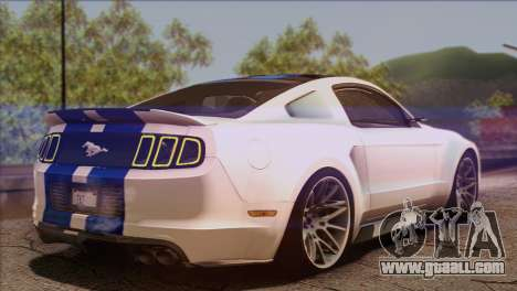 Ford Mustang GT 2012 for GTA San Andreas left view
