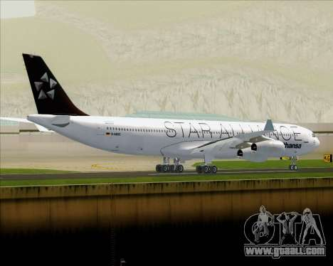 Airbus A340-300 Lufthansa (Star Alliance Livery) for GTA San Andreas back view