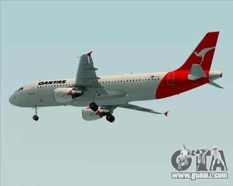 Airbus A320-200 Qantas for GTA San Andreas right view