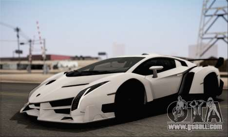 Lamborghini Veneno LP750-4 White Black 2014 HQLM for GTA San Andreas