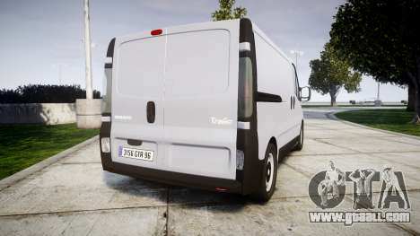 Renault Trafic II for GTA 4 back left view