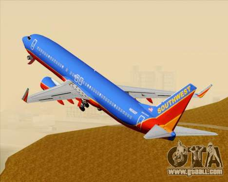 Boeing 737-800 Southwest Airlines for GTA San Andreas