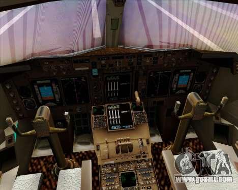 Boeing 747-400 Aer Lingus for GTA San Andreas interior