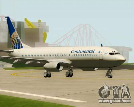 Boeing 737-800 Continental Airlines for GTA San Andreas back left view
