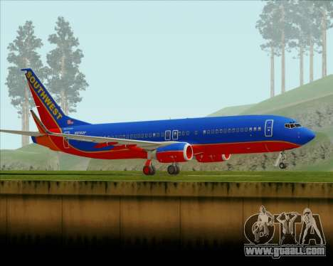 Boeing 737-800 Southwest Airlines for GTA San Andreas left view
