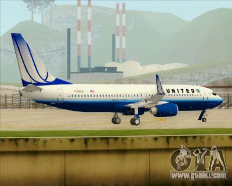 Boeing 737-800 United Airlines for GTA San Andreas bottom view