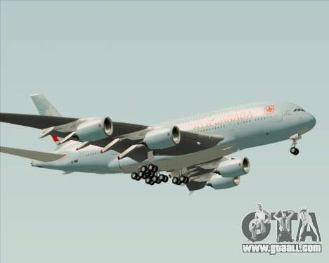 Airbus A380-800 Air Canada for GTA San Andreas bottom view