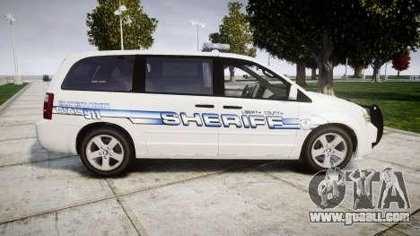 Dodge Grand Caravan [ELS] Liberty County Sheriff for GTA 4 left view