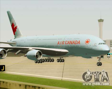 Airbus A380-800 Air Canada for GTA San Andreas side view