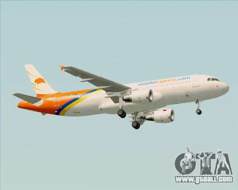 Airbus A320-200 Airphil Express for GTA San Andreas right view