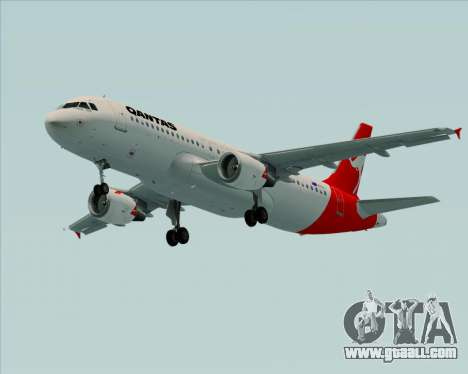 Airbus A320-200 Qantas for GTA San Andreas left view