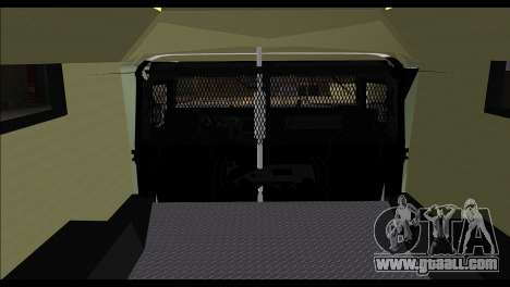 SWAT Enforcer for GTA San Andreas back left view