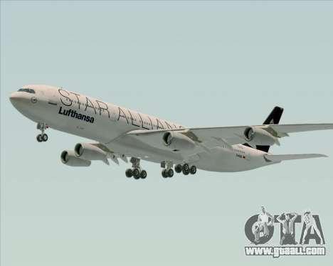 Airbus A340-300 Lufthansa (Star Alliance Livery) for GTA San Andreas wheels