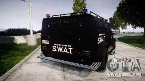 SWAT Van [ELS] for GTA 4 back left view