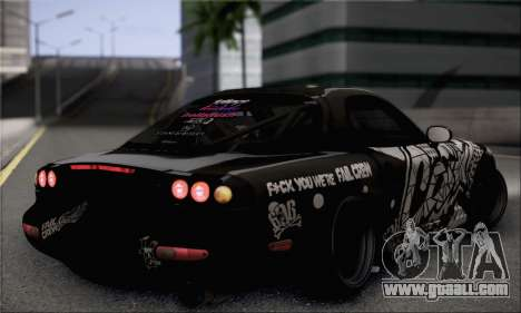 Mazda RX-7 Fail Crew for GTA San Andreas left view