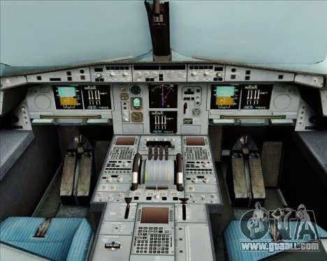 Airbus A380-800 Air Canada for GTA San Andreas interior