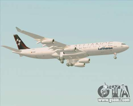 Airbus A340-300 Lufthansa (Star Alliance Livery) for GTA San Andreas right view