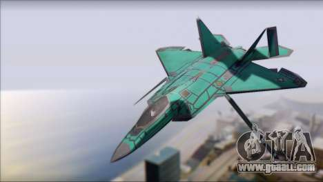 F-22A Raptor Unpainted Factory Texture for GTA San Andreas