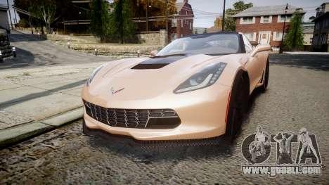 Chevrolet Corvette Z06 2015 TireBr2 for GTA 4