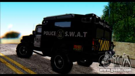 SWAT Enforcer for GTA San Andreas left view