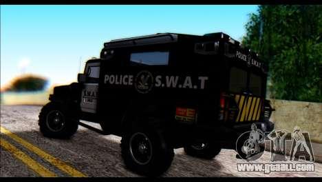 SWAT Enforcer for GTA San Andreas left view