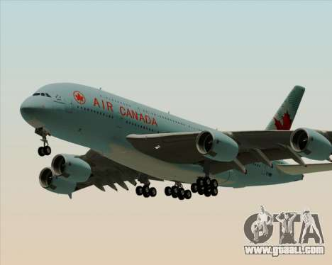Airbus A380-800 Air Canada for GTA San Andreas back left view