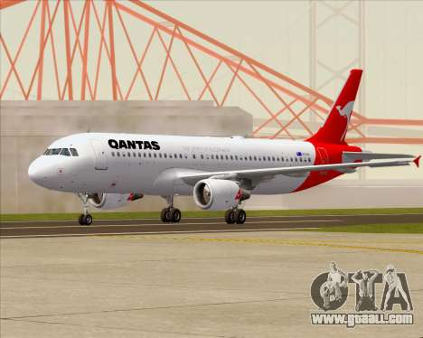 Airbus A320-200 Qantas for GTA San Andreas back left view