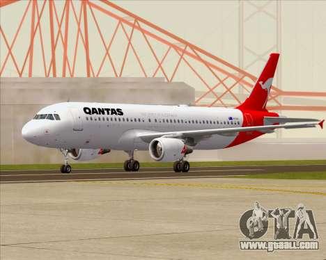Airbus A320-200 Qantas for GTA San Andreas back left view
