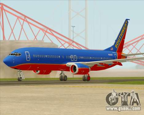 Boeing 737-800 Southwest Airlines for GTA San Andreas back view