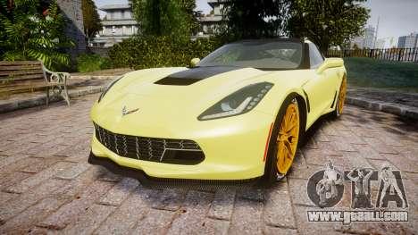 Chevrolet Corvette Z06 2015 TireGY for GTA 4
