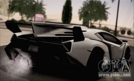 Lamborghini Veneno LP750-4 White Black 2014 HQLM for GTA San Andreas left view