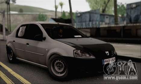 Dacia Logan 2009 for GTA San Andreas