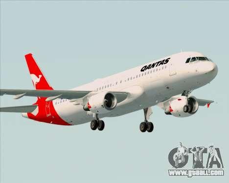 Airbus A320-200 Qantas for GTA San Andreas inner view