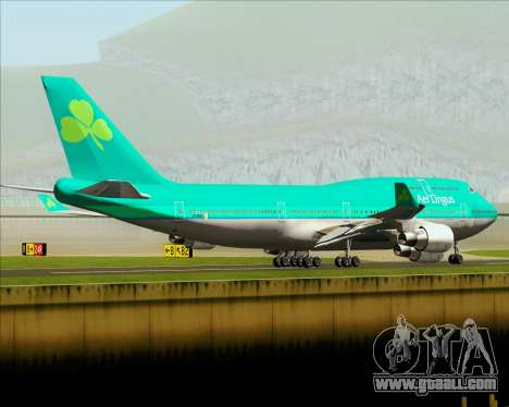 Boeing 747-400 Aer Lingus for GTA San Andreas bottom view