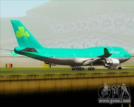 Boeing 747-400 Aer Lingus for GTA San Andreas bottom view
