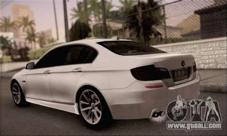 BMW 520d 2012 for GTA San Andreas left view