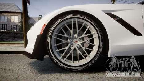 Chevrolet Corvette Z06 2015 TireBFG for GTA 4 back view