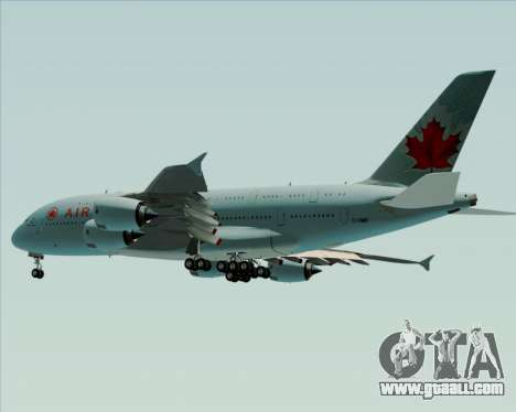 Airbus A380-800 Air Canada for GTA San Andreas inner view